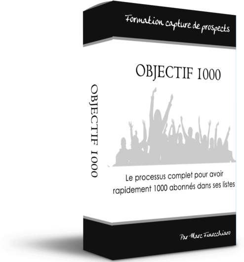 Formations marketing - Objectif 1000